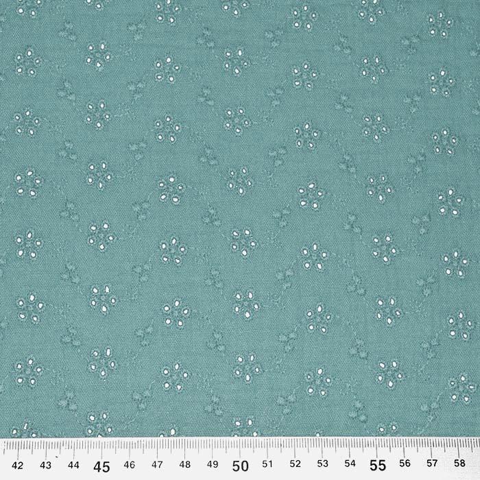 Tetra tkanina, dvojna, rišelje, cvetlični, 23450-017, zelena