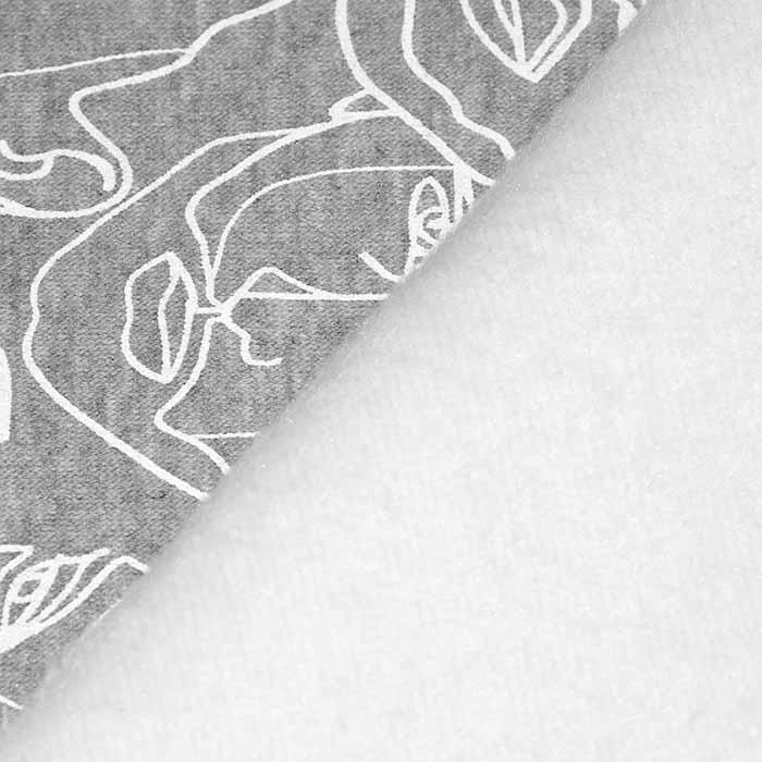 Prevešanka, kosmatena, tisk, 23708-005, bela