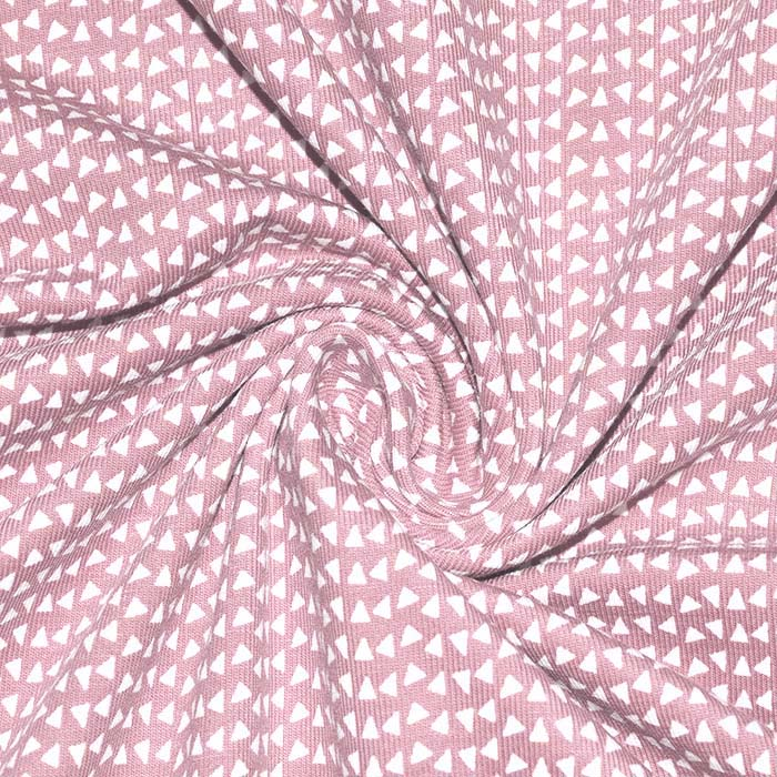 Jersey, bombaž, geometrijski, 23811-12, roza