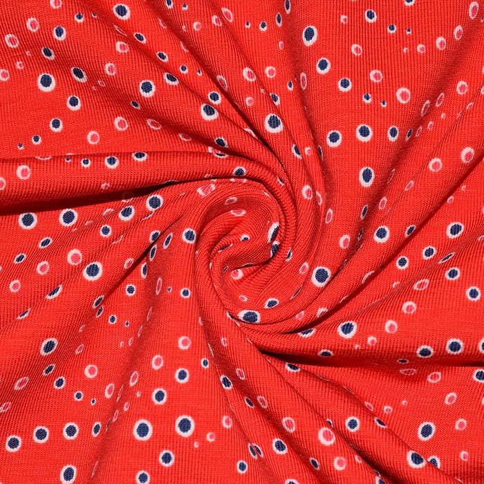 Jersey, bombaž, pike, 23817-11, rdeča