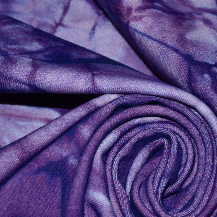 Poliamid, elastan, mat, tie-dye, 23850-14, vijola