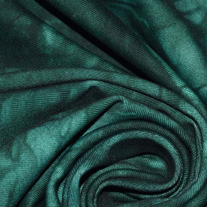 Poliamid, elastan, mat, tie-dye, 23850-15, zelena