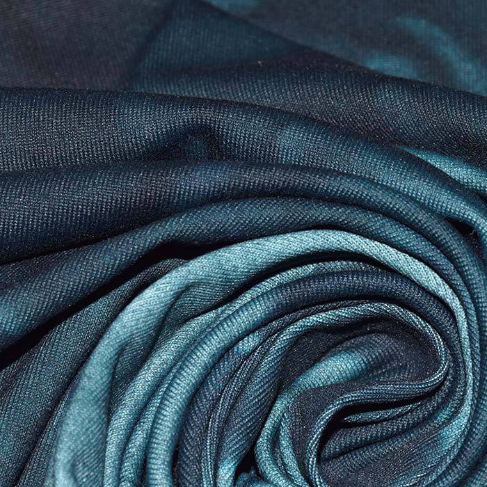 Poliamid, elastan, mat, tie-dye, 23850-4, petrolej