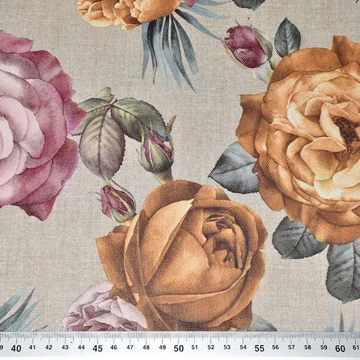 Deko, tisk, cvetlični, 23872-001
