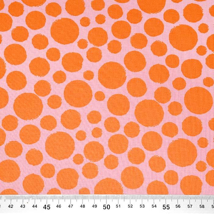 Bombaž, poplin, pike, 23955-002, oranžno-roza