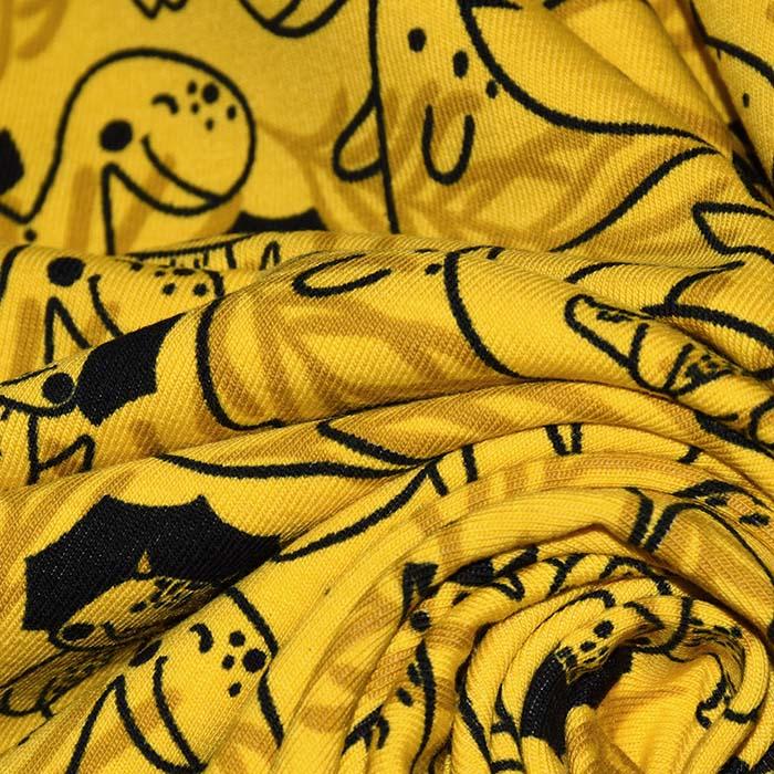 Jersey, bombaž, živalski, 24025-034, rumena