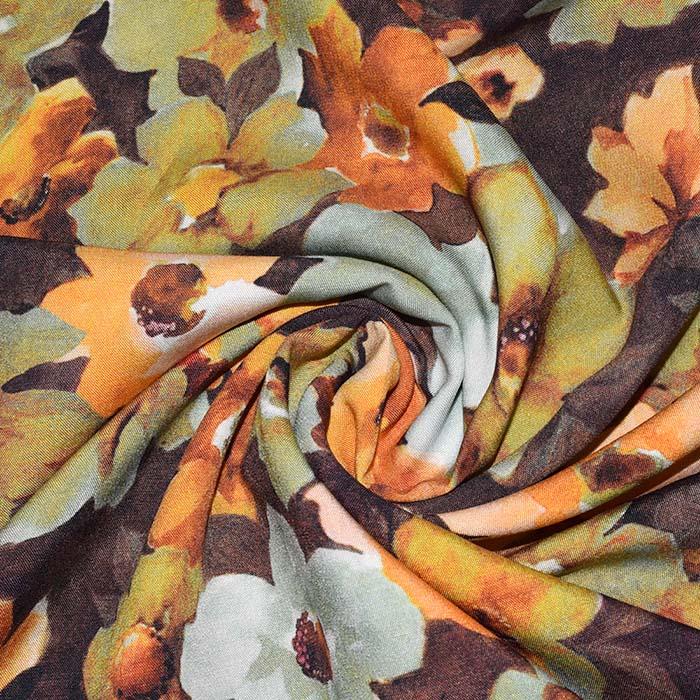 Tkanina, viskoza, cvetlični, 24076-002