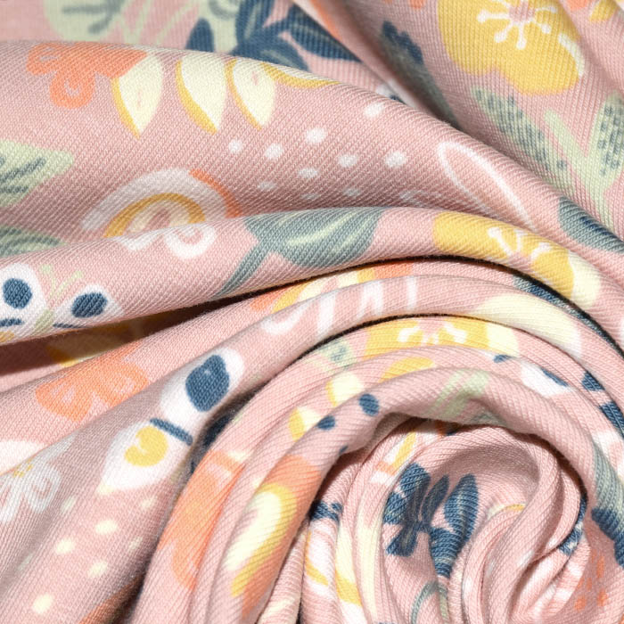 Jersey, bombaž, narava, 24151-013, roza