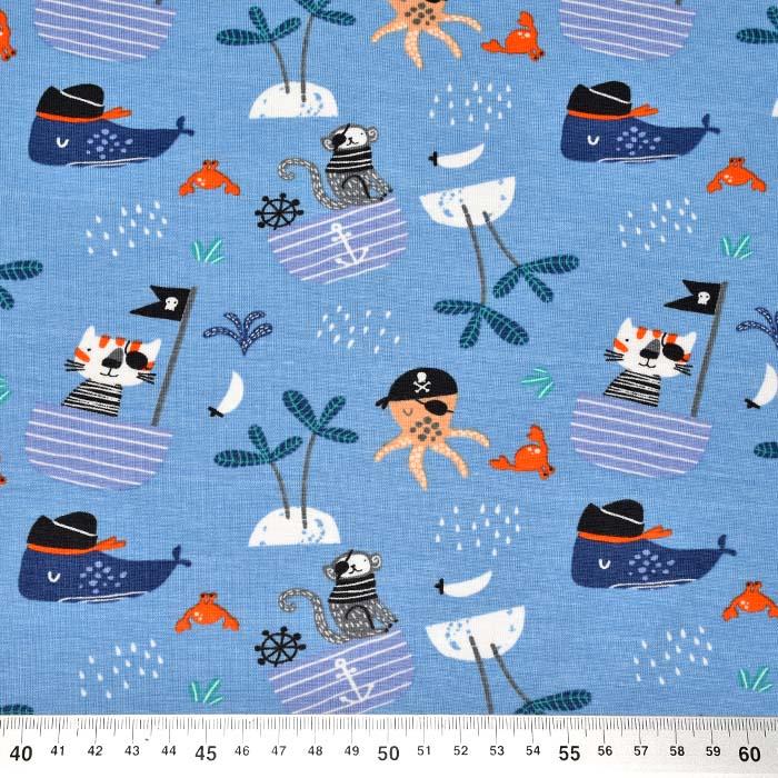 Jersey, bombaž, morski, 24172-003, svetlo modra