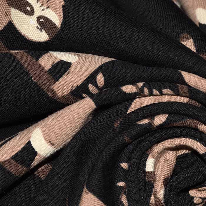 Jersey, bombaž, živalski, 24212-32, črna