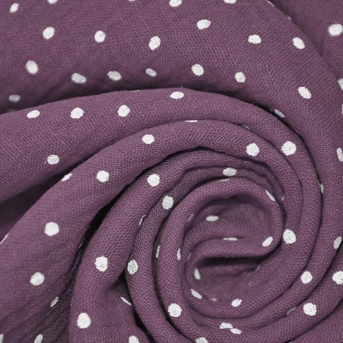 Tetra tkanina, dvojna, pikice, 19032-031, vijola
