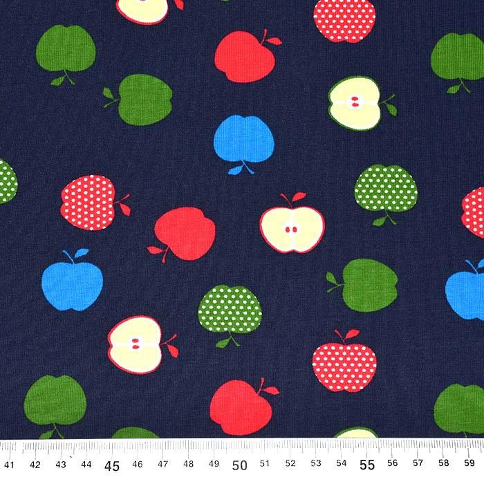 Jersey, bombaž, sadje, 25201-3, temno modra