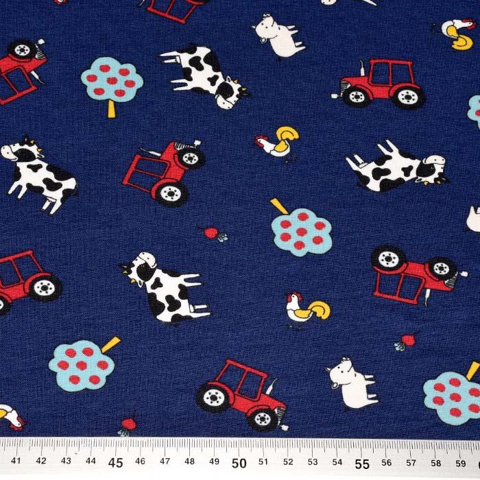 Jersey, bombaž, otroški, 25201-30, temno modra