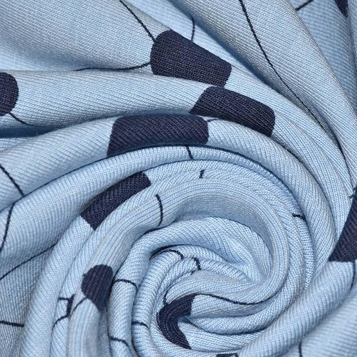Jersey, bombaž, pike, 25200-18, modra