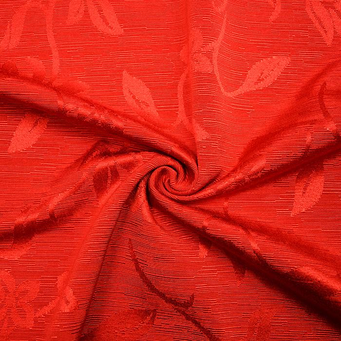 Otoman, žakard, 4146-112,  živo rdeča