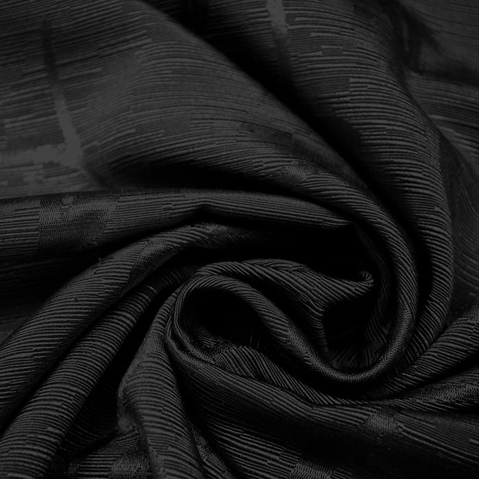 Otoman, žakard, 4146-119, črna