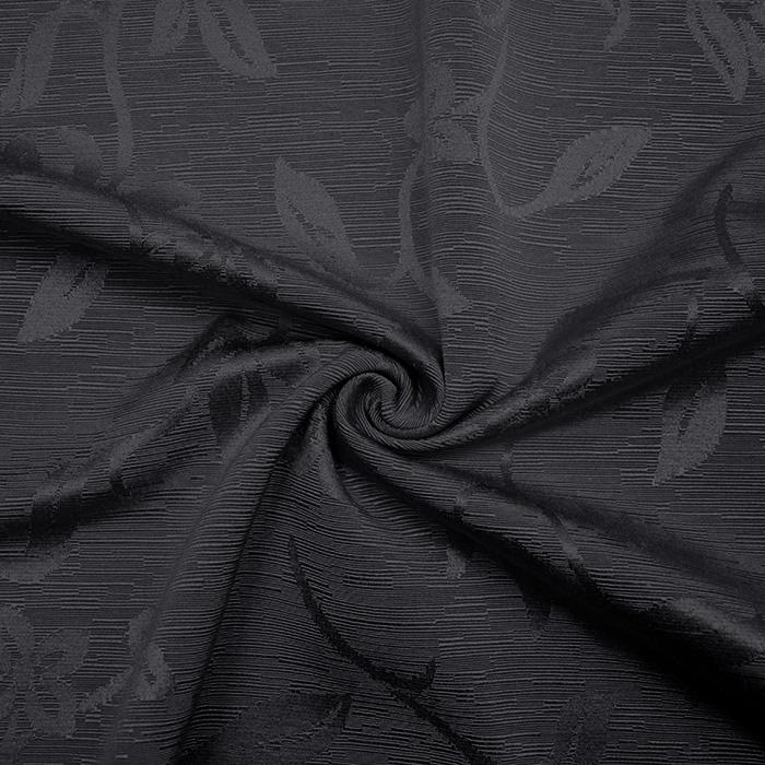 Otoman, žakard, 4146-126, temno siva