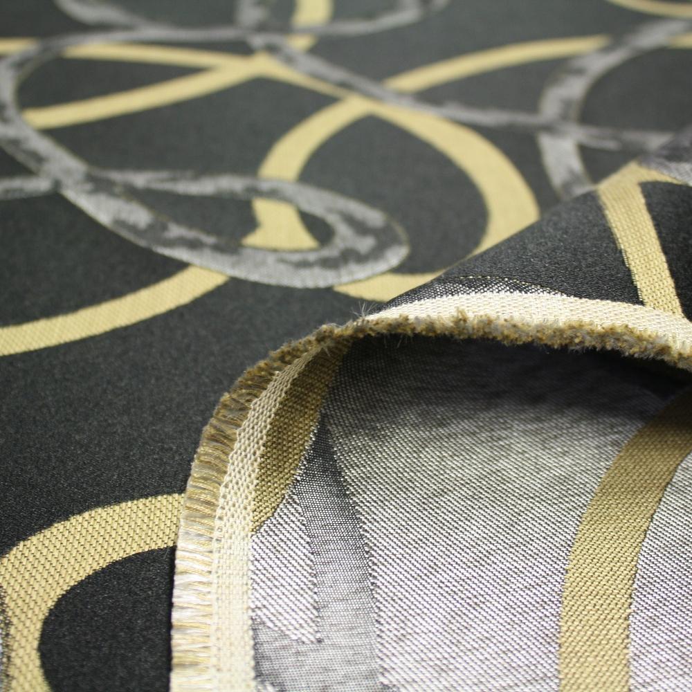 Deko žakard, krivulje crne, 12598-6240