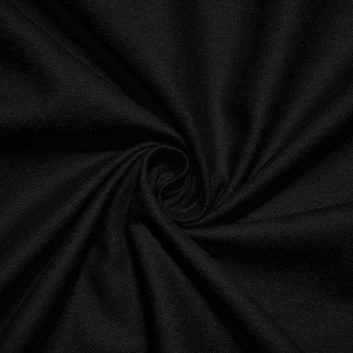 Flanela, bombaž, 12510-14, črna