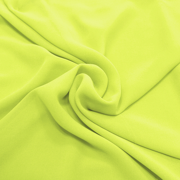 Šifon, poliester, 4143-22A, rumeno zelena