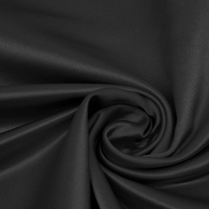Damast saten, Minerva, 13141-54, črna