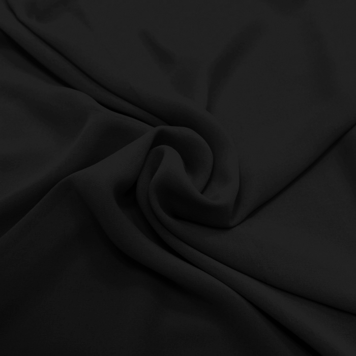 Šifon, poliester, 4143-29, črna