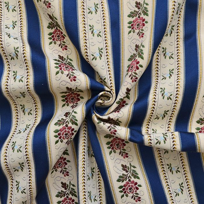 Deko žakard, Bidermajer, 13180-7, modra