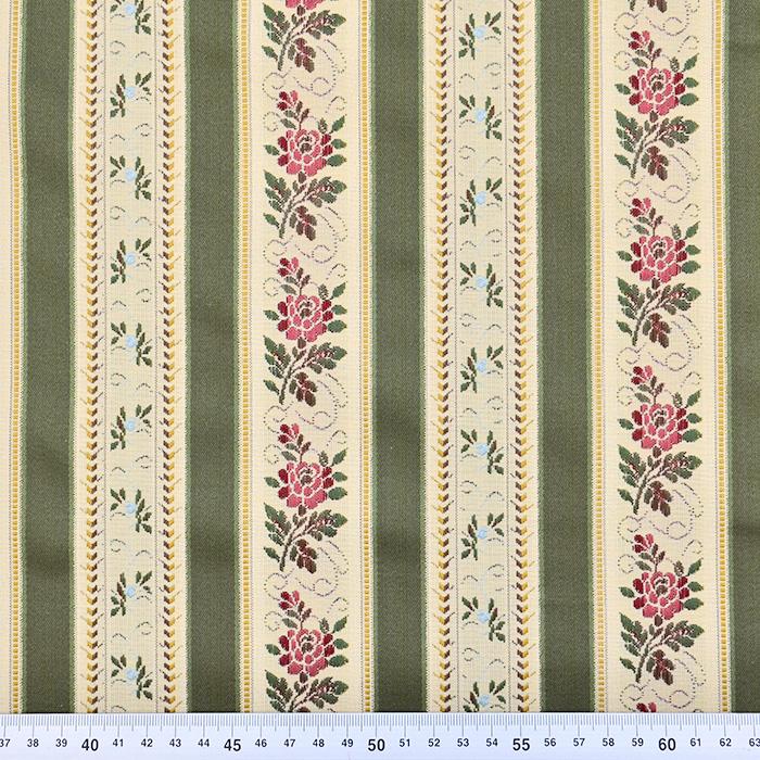 Deko žakard, Bidermajer, 13180-4, olivno zelena