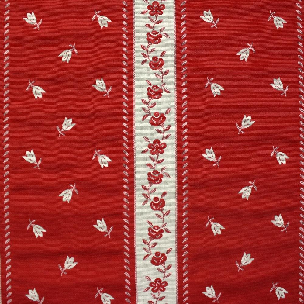 Deko žakard, cvetlični, 13183-101, rdeča