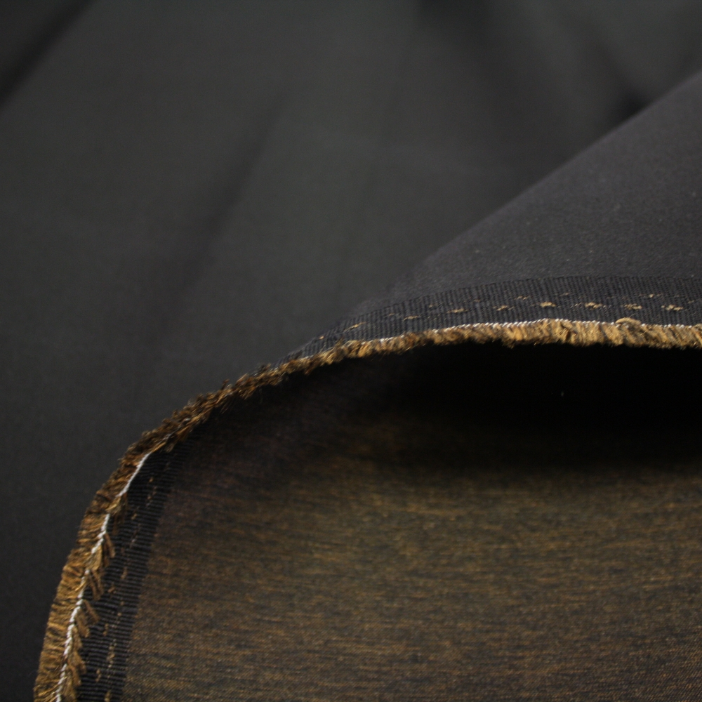 Dekorativa saten, 13205-08, črna/bronza
