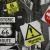 Deco, print, traffic signs, 14259 - Bema Fabrics