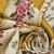 Deco jacquard, Biedermeier, 15953-2, gold - Bema Fabrics