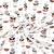Baumwolle, Popeline, Druck, 20788-1, braun-grau - Bema Stoffe