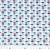 Baumwolle, Popeline, geometrisch, 20841-2, blau - Bema Stoffe