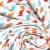 Pamuk, popelin, suze, 20842-4, plavo-narančasta - Svijet metraže