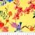 Jersey, Baumwolle, digital, floral, 21095-570, gelb - Bema Stoffe