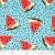 Jersey, Baumwolle, Früchte, 21198-09, mintblau - Bema Stoffe