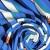 Jersey, Baumwolle, Streifen, 21206-63216, blau - Bema Stoffe