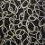 Deco jacquard, black curves, 12598-6240 - Bema Fabrics