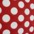 Deco jacquard, big red dots, 13181-101 - Bema Fabrics