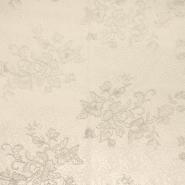 Čipka, visoko kvalitetna 13521 siva, srebrna nit