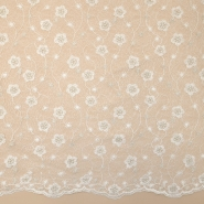 Lace, high quality 13519 cream, silver thread