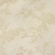 Lace, high quality 13525 cream, silver thread