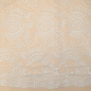 Lace, high quality 13528 white, silver thread - Bema Fabrics