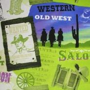 Deco, print, cowboy, 13799