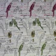 Deko žakard, papige, 14033