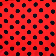 Satin, polyester, dots, 13924-01
