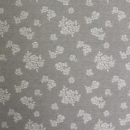 Deco jacquard, beige flowers, 14137-9123