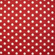 Deko žakard, pike rdeče, 13957-10