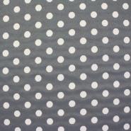 Deko žakard, točkice sive, 13957-18